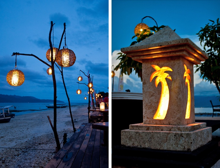 Beach bar lanterns, Gili Trawangan