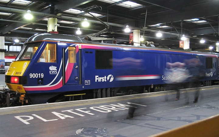 The Caledonian sleeper train