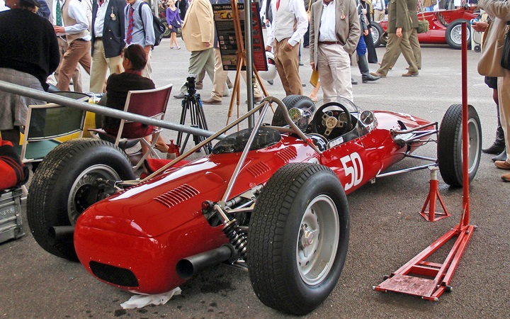 Vintage racing cars at the Goodwood Revival