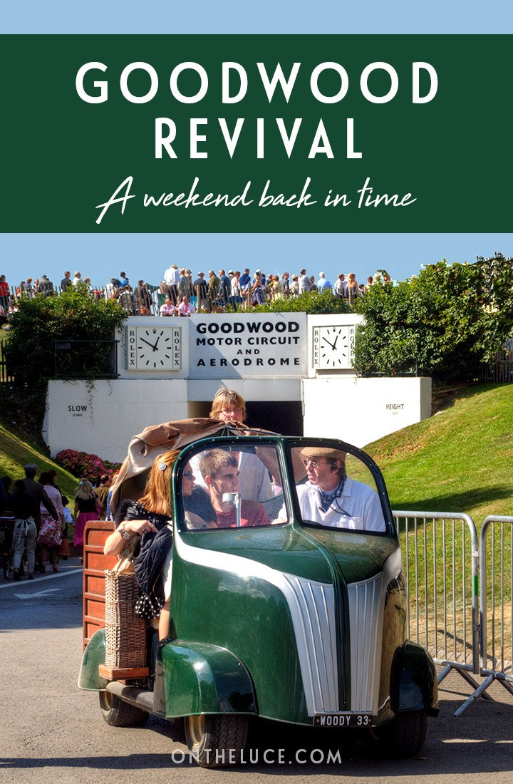 A guide to the Goodwood Revival vintage motor racing event in Sussex, England – buying tickets, what to wear, how to get there, where to stay and more. #GoodwoodRevival #vintage #retro #motorracing #Goodwood #classiccars