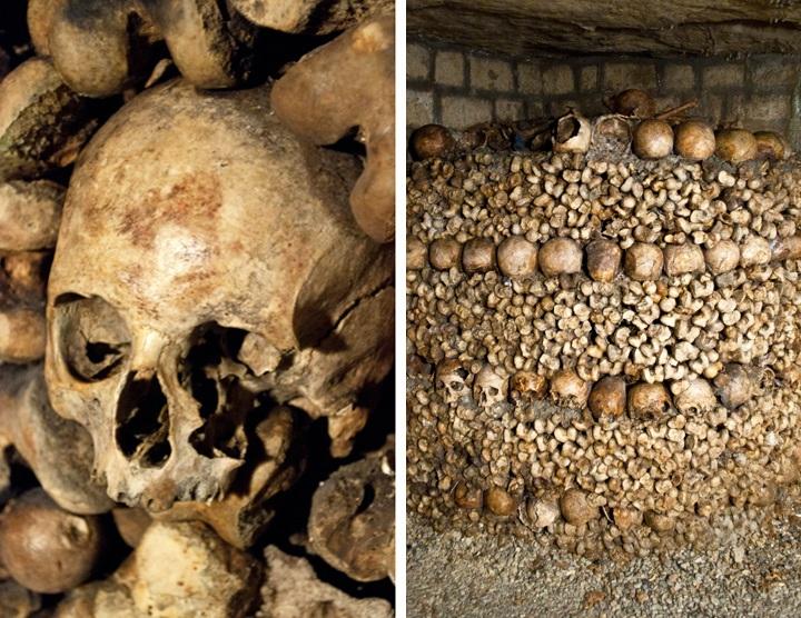 Catacombs bones