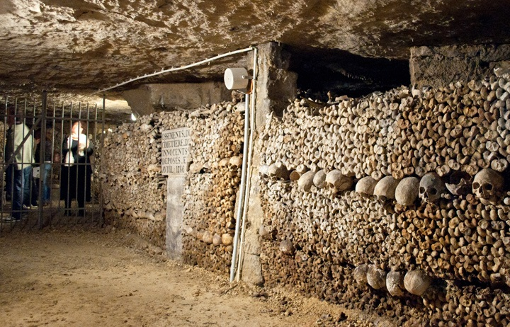 Catacombs visitors