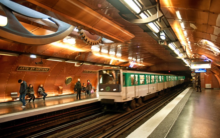 Paris' steampunk metro station