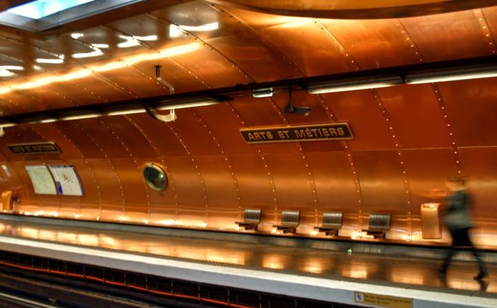 Paris' steampunk Arts et Métiers Metro station