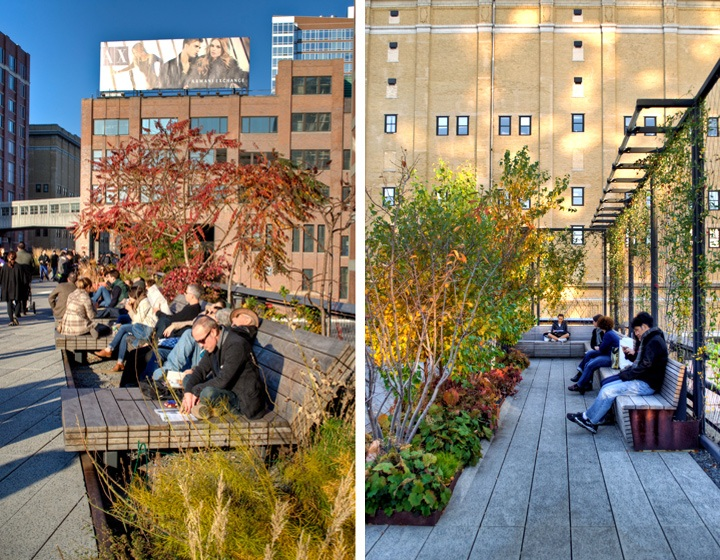 High Line seating areas