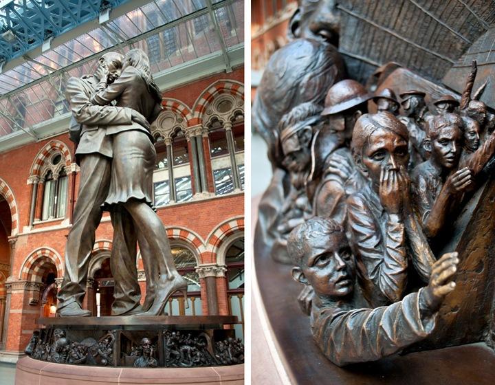 St Pancras statues