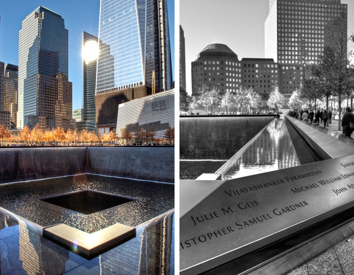 9/11 Memorial fountains