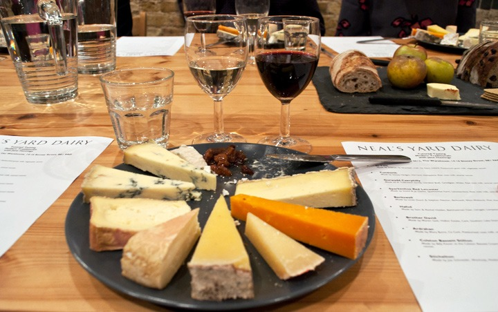 Cheese plate at Neal's Yard Dairy