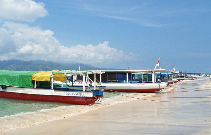 Boats on Gili Trawangan