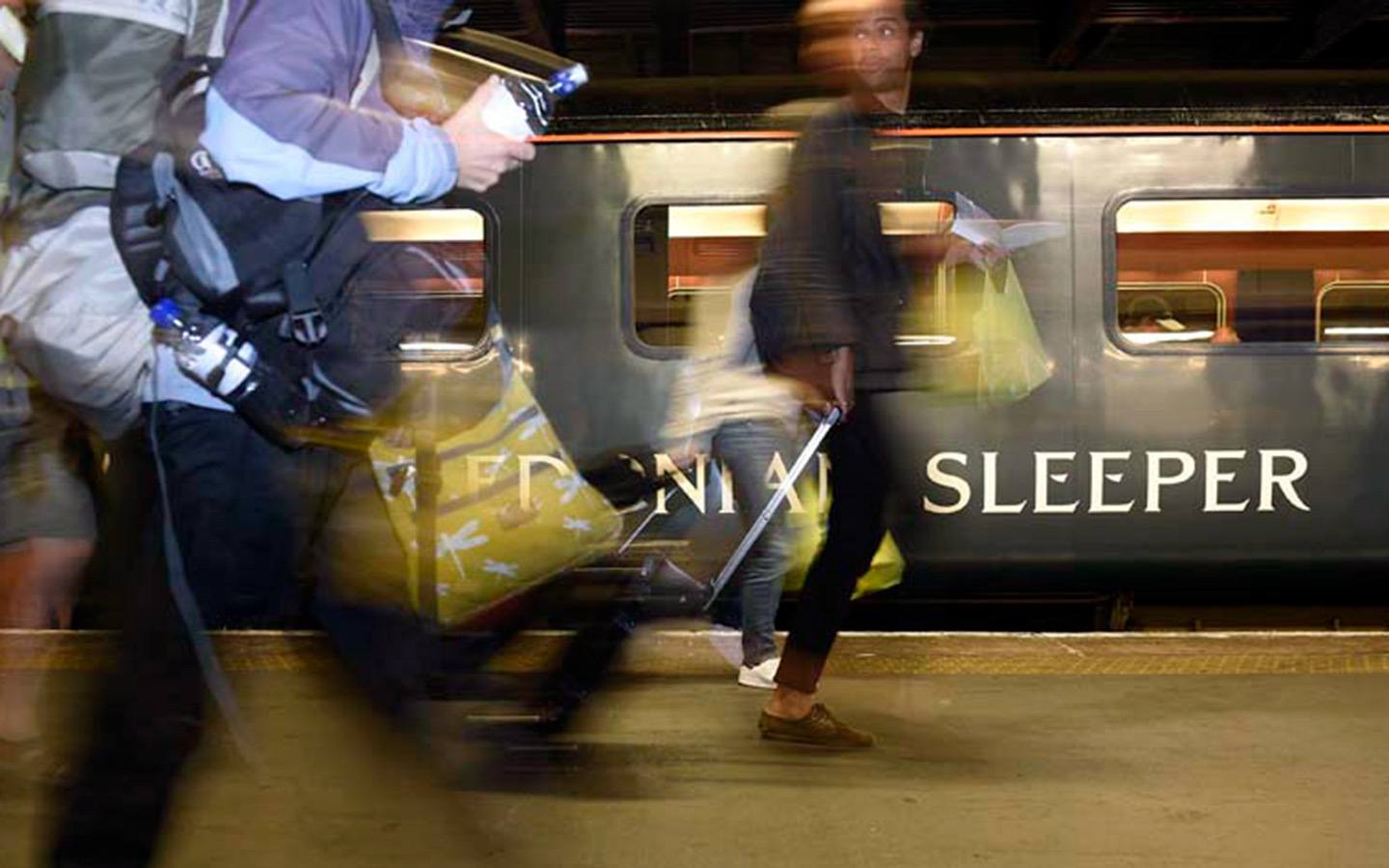 Caledonain Sleeper train in Scotland