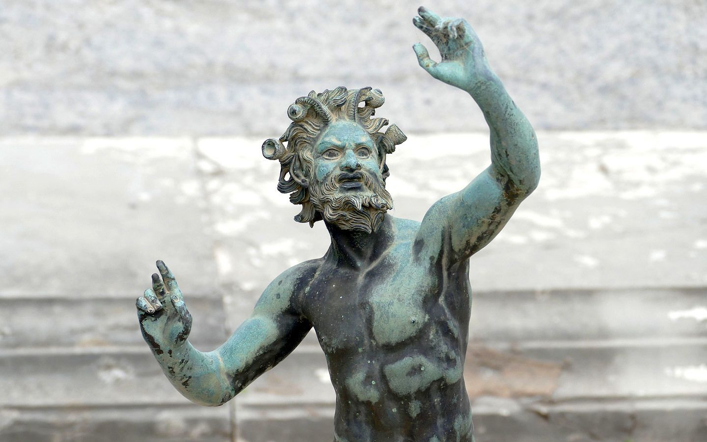Statue at the House of the Faun in Pompeii