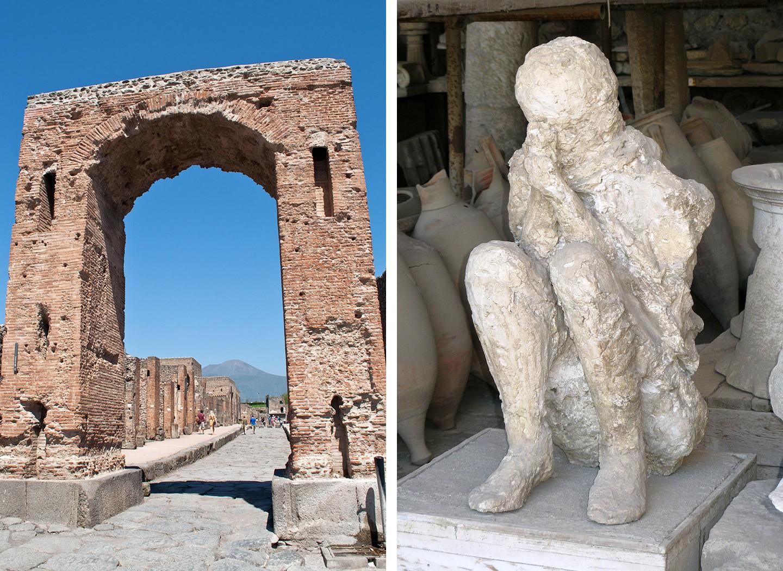 Body casts at Pompeii