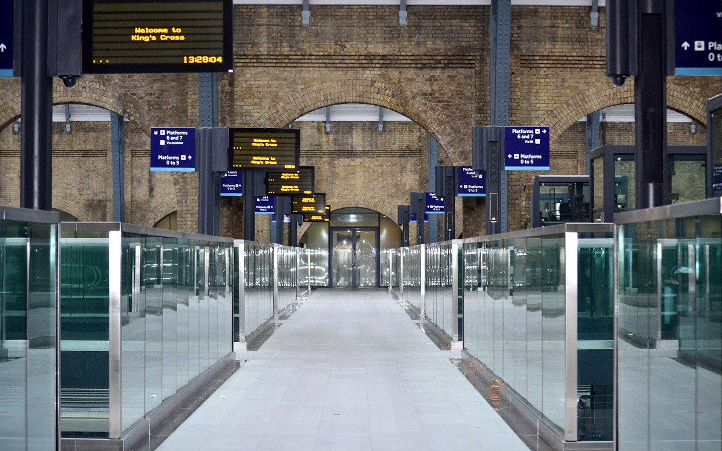 King's Cross Train station in London