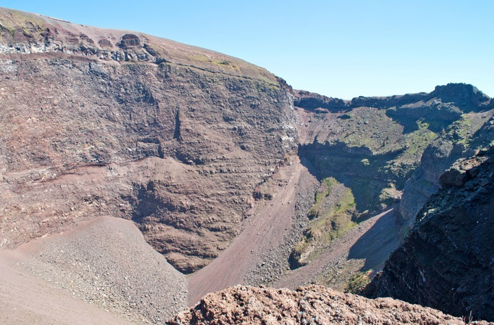 Inside Vesuvius' crater
