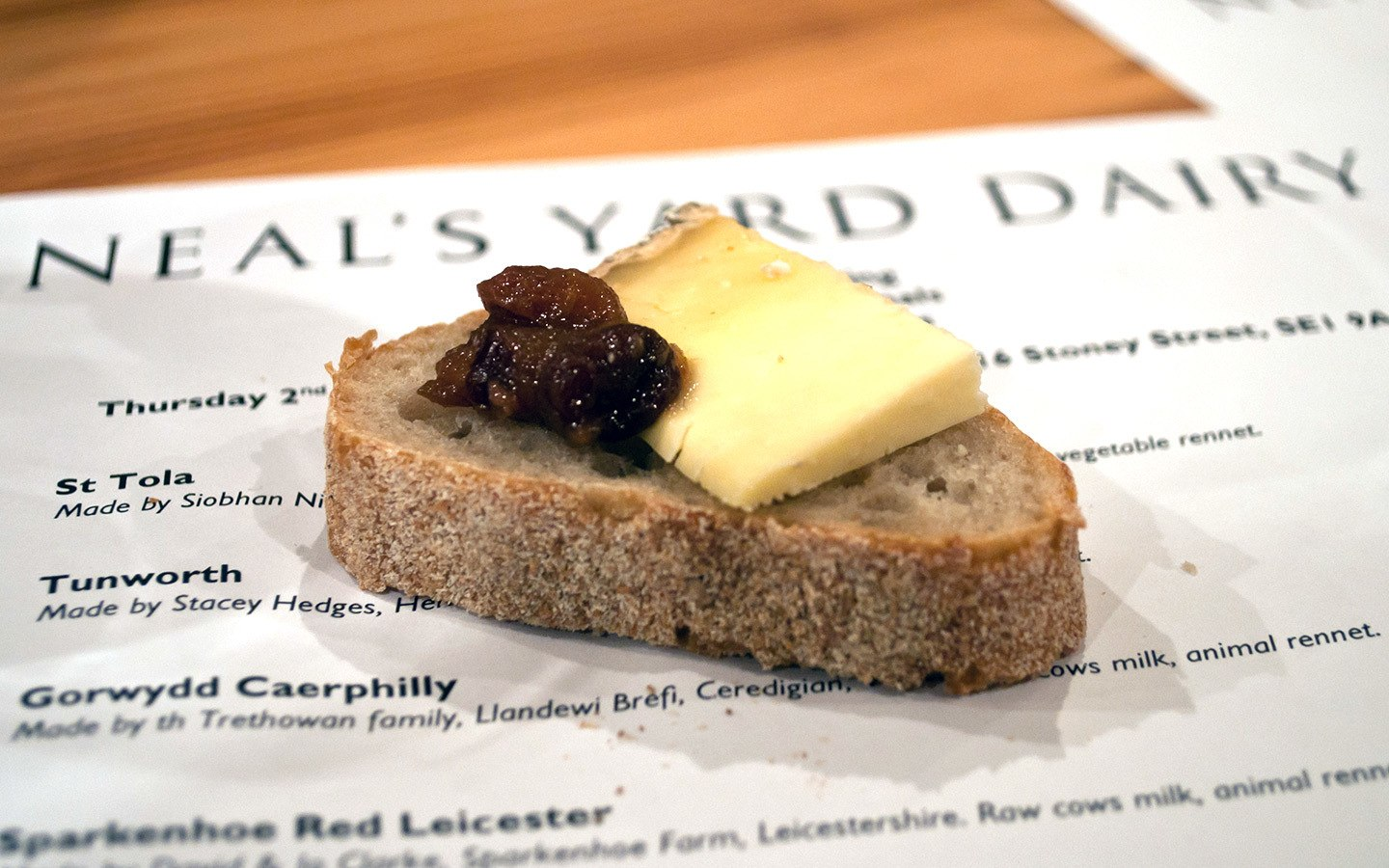 London food tour and cheese tasting at Neal's Yard Dairy