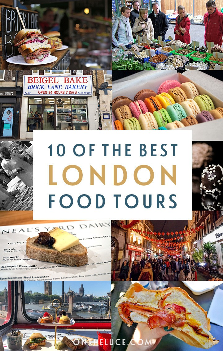 10 of the best London food tours – exploring the British capital's food scene, from market tours to cheese tastings and an afternoon tea bus #foodtour #London #UK #foodies #Londontours