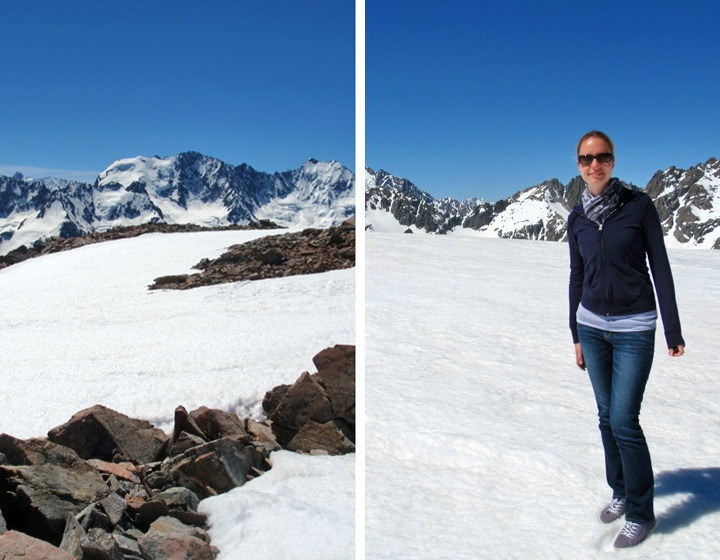 On the snow of Mount Josef