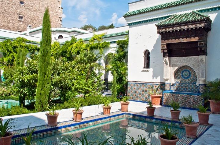 Paris mosque gardens