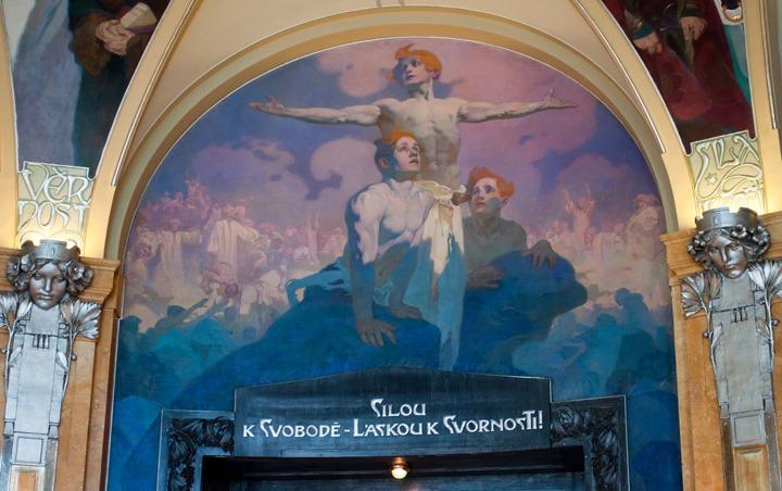 Alphonse Mucha mural