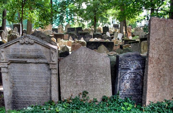 Gravestones in Prague