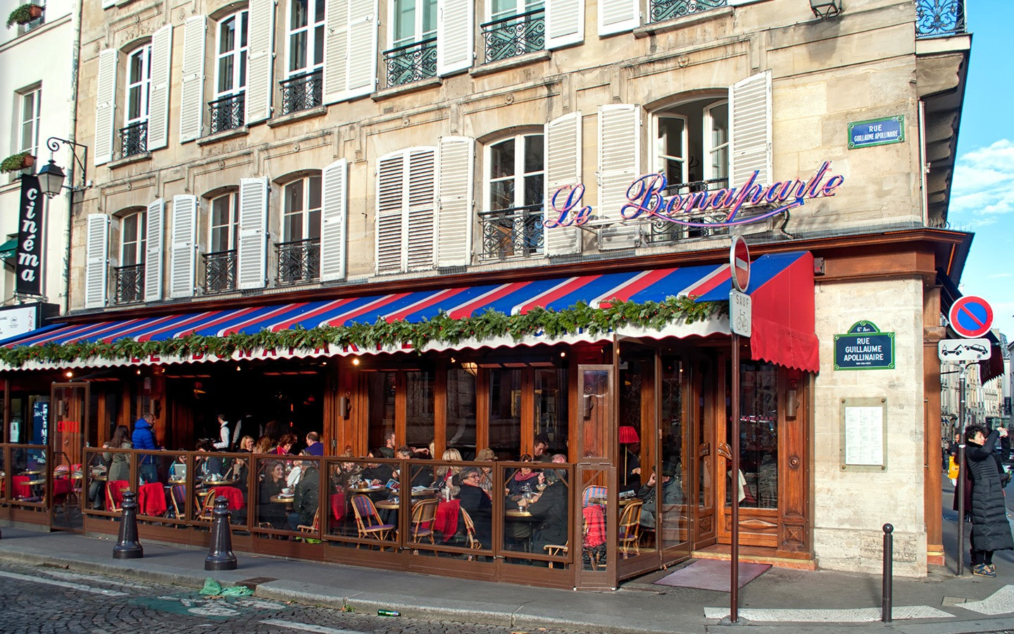 Bonaparte Café in St Germain, Paris' Left Bank
