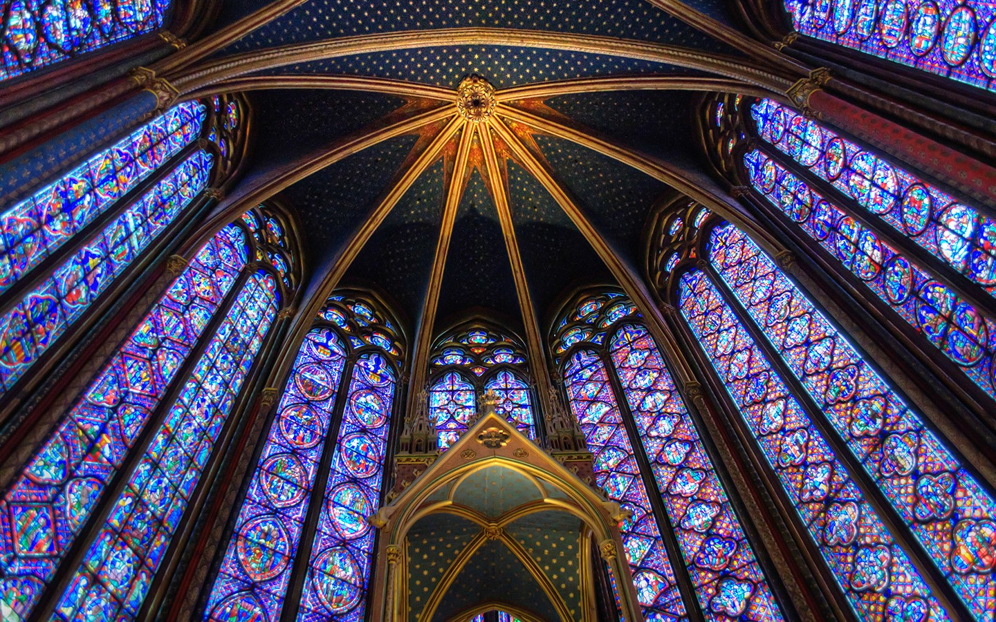 Saint-Chapelle stained glass in Paris