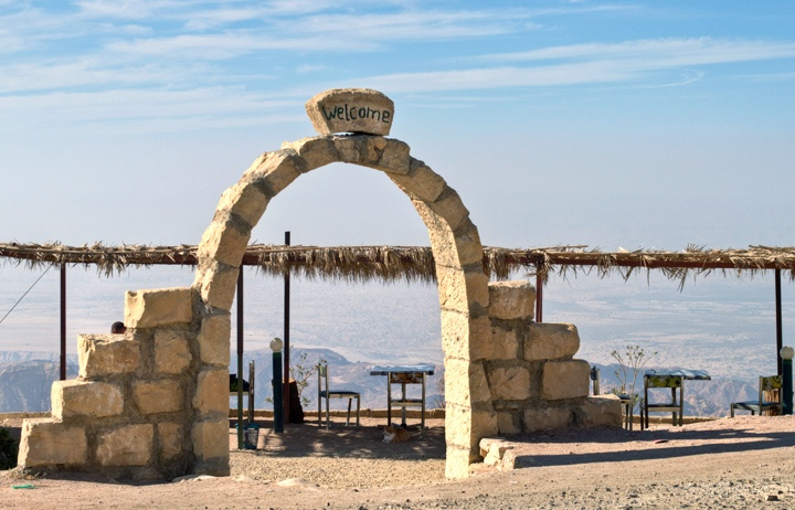 Viewpoint cafe in the mountains in Jordan