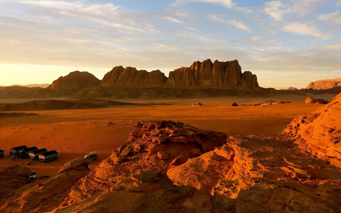 Sunset at Wadi Rum in Jordan