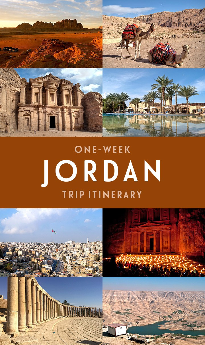 A one-week Jordan itinerary, including Amman, Petra, Wadi Rum and the Dead Sea, with tips on what to see and where to stay, and map included #Jordan #Jordanitinerary #Petra #roadtrip #itinerary #VisitJordan