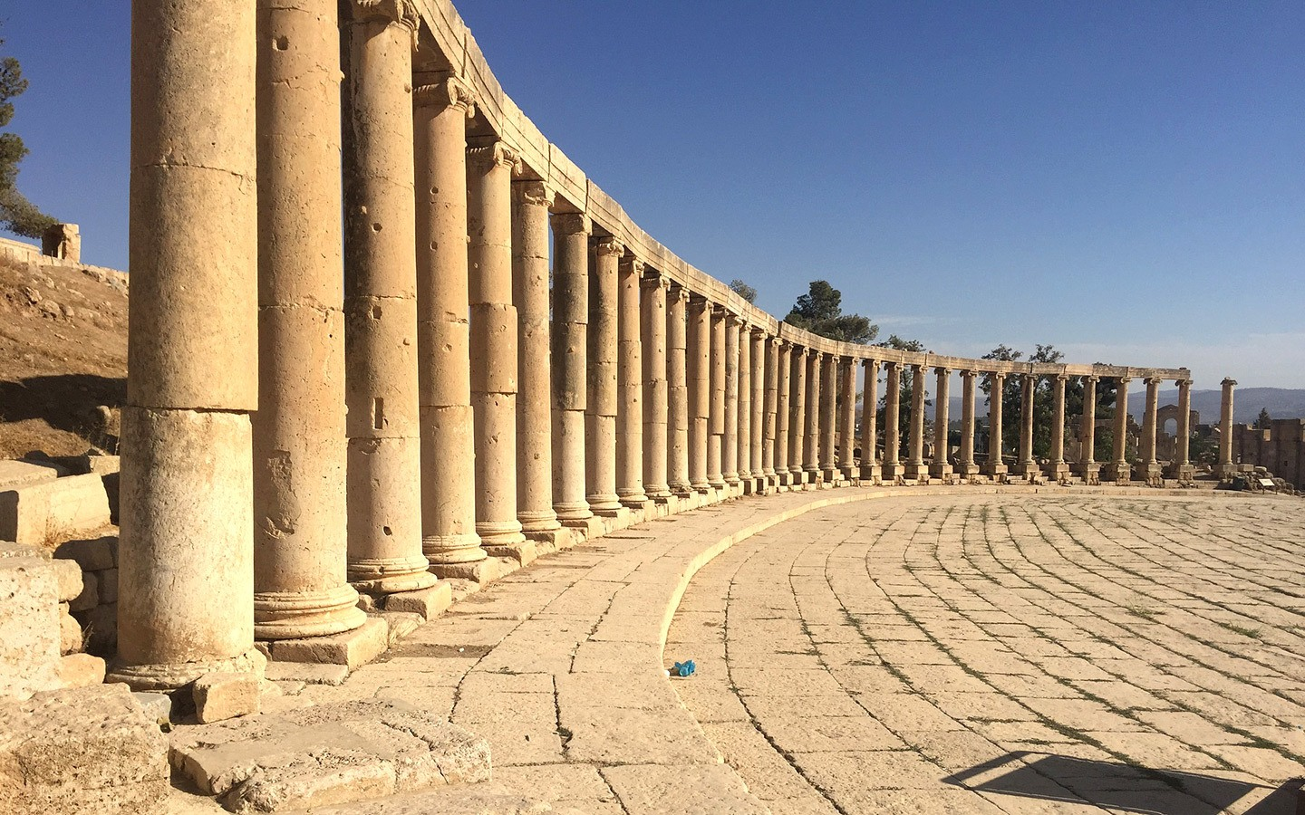 The forum in Jerash, Jordan