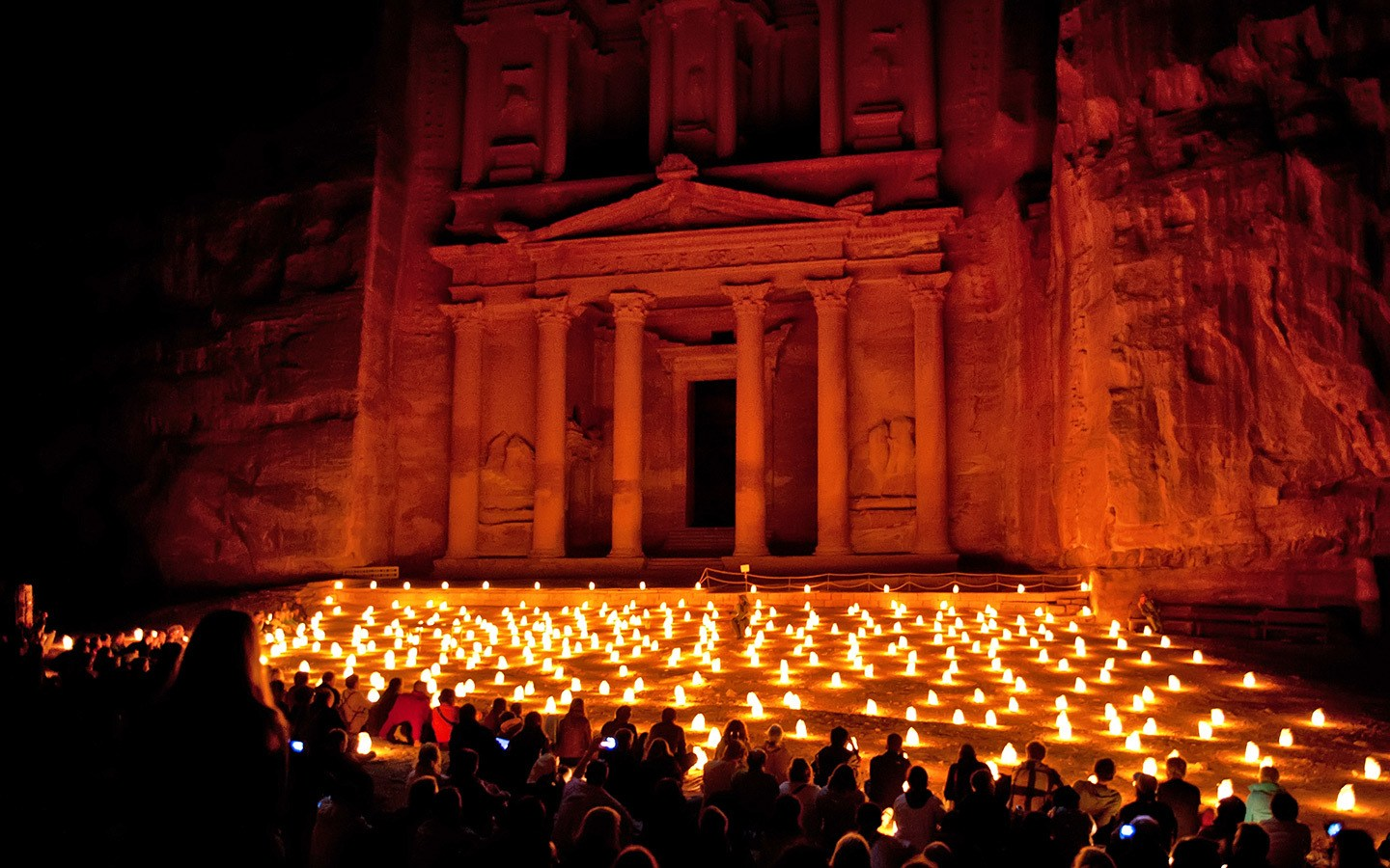 Petra by night, Jordan