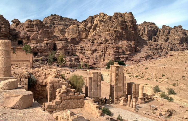 The Roman ruins of Petra, Jordan