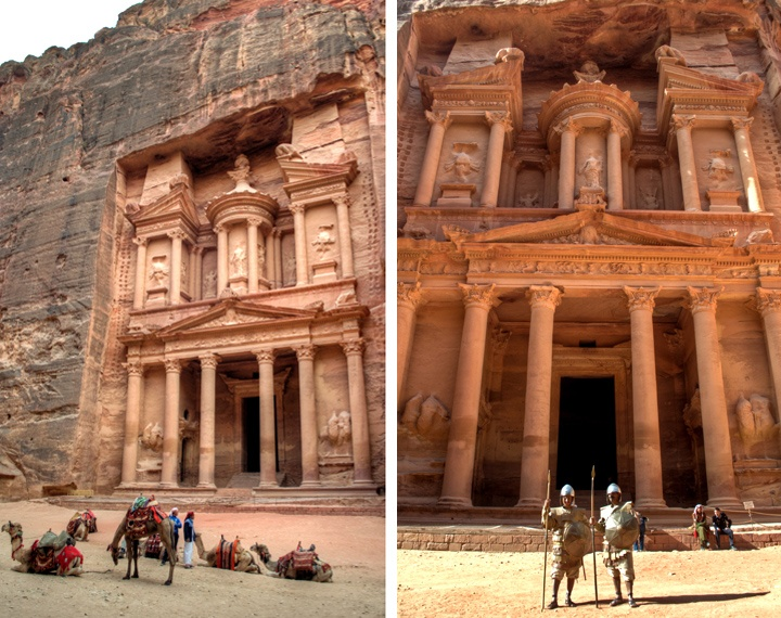 The Treasury at Petra in Jordan