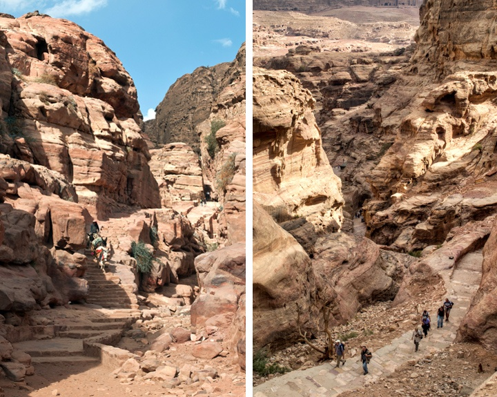 The path to the Monastery in Petra, Jordan