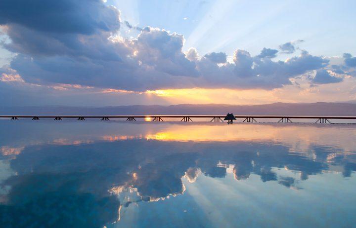 Sunset over the Dead Sea, Jordan