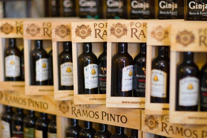 Bottles of Port in Portugal