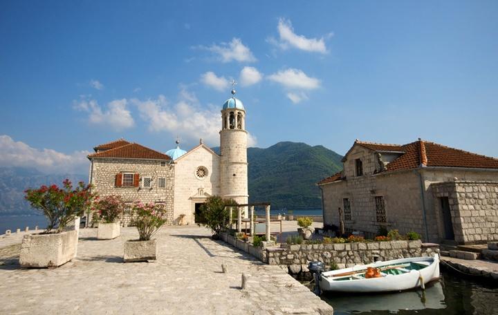 Perast in the Bay of Kotor, Montenegro