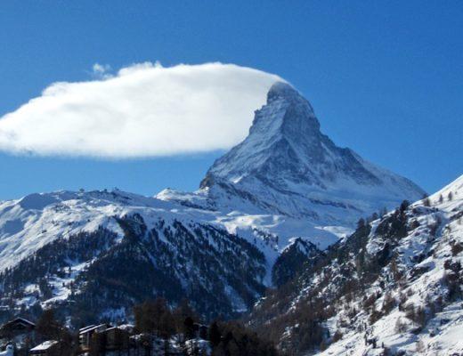 The Matterhorn mountain in the Swiss Alps