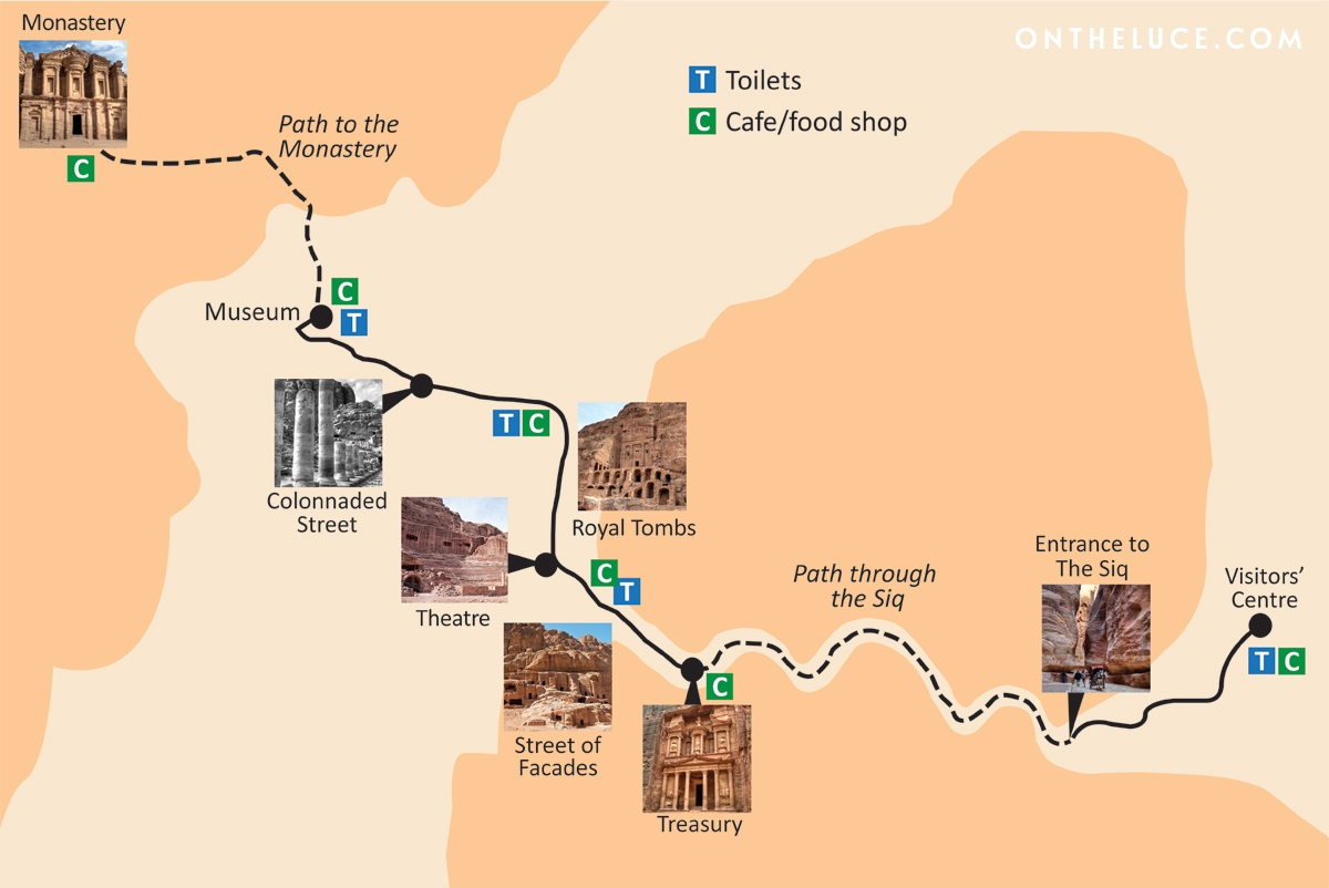 Map of Petra, Jordan