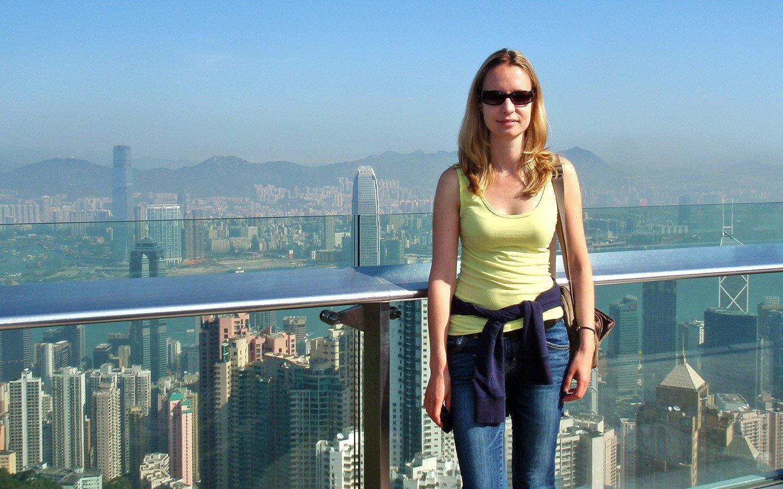 At Victoria Peak in Hong Kong