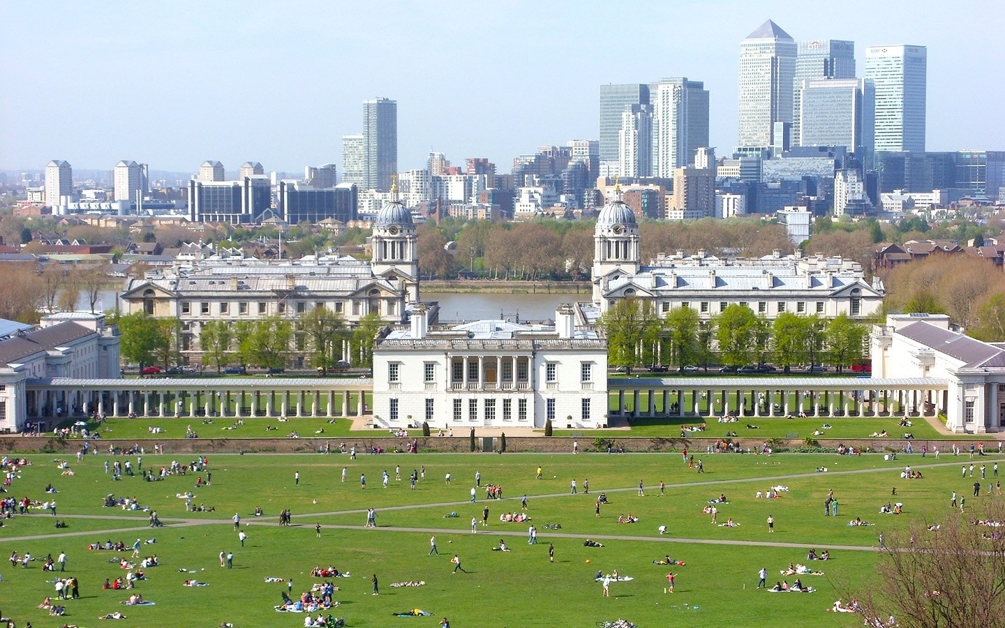 Views of the city from London's Greenwich Park