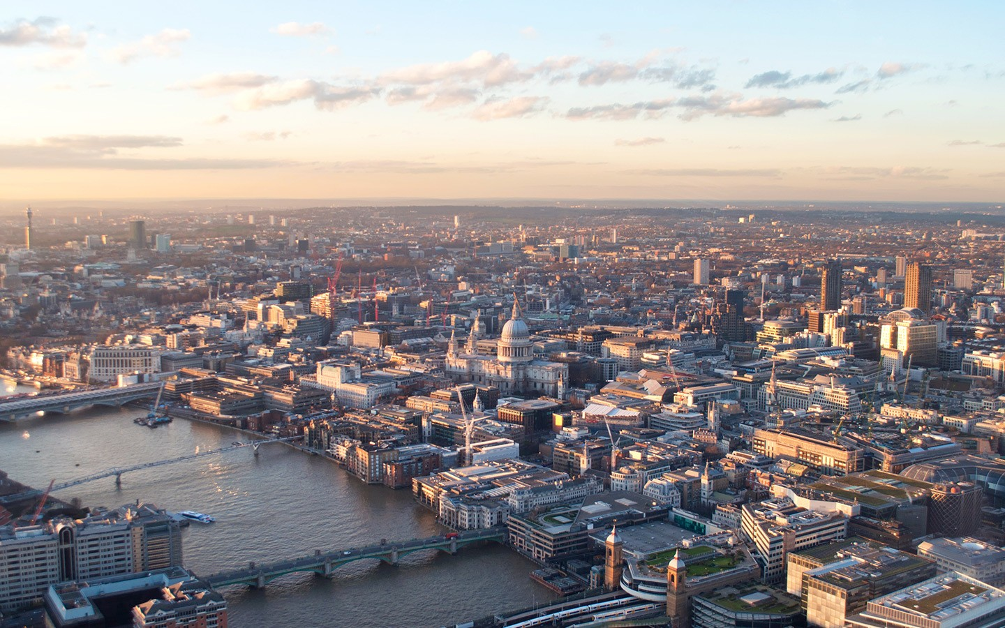 Views over London from the Top of the Shard
