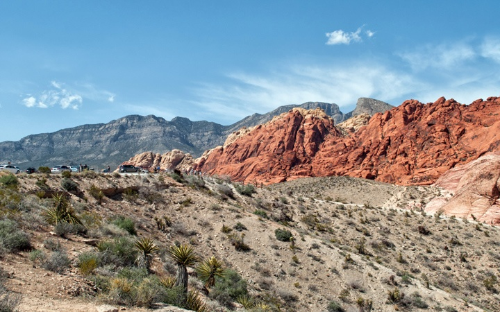 Red Rock Canyon near Las Vegas in Nevada, USA
