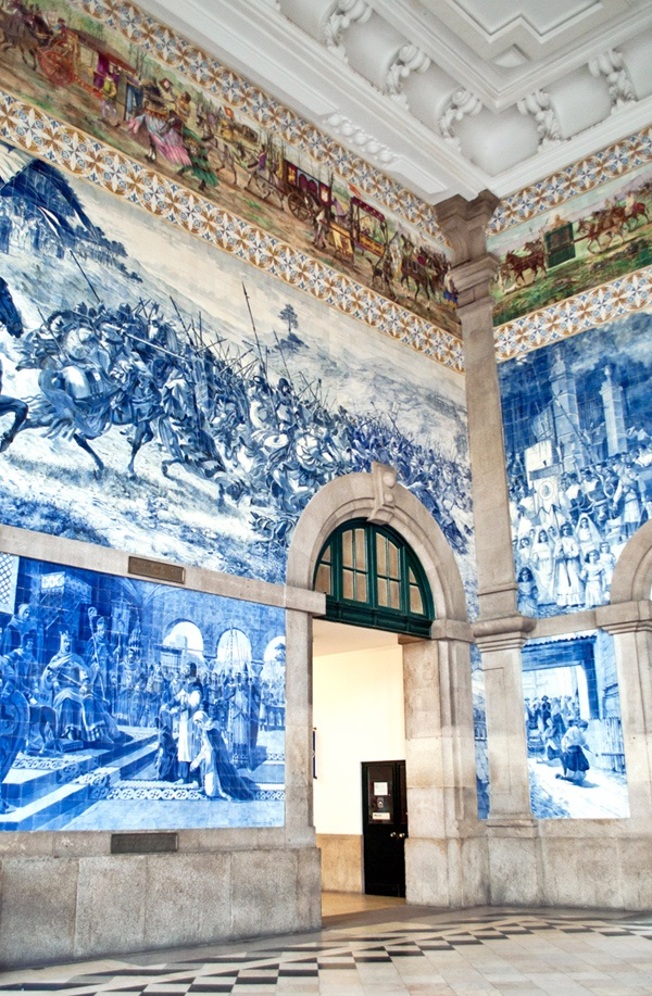 In pictures: Porto's blue and white azulejo tiles – On the Luce travel blog