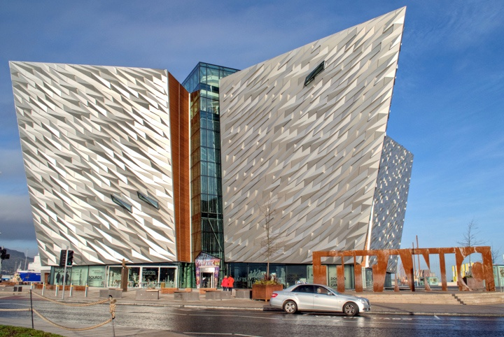 The Titanic museum in Belfast, Northern Ireland