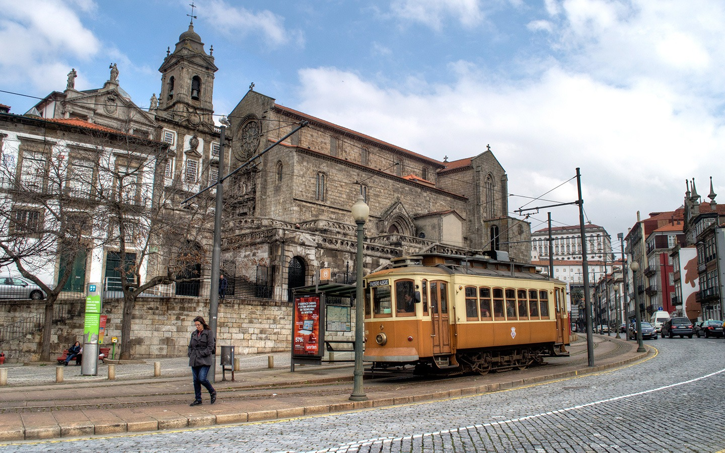 Trams in Porto, Portugal