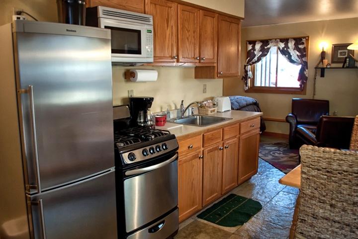 Kitchen at O Bar O Cabins near Durango, Colorado