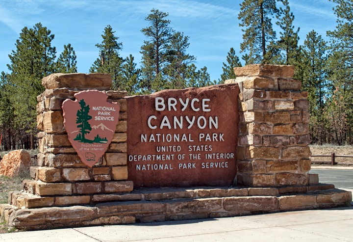 Entrance to Bryce Canyon National Park, Utah