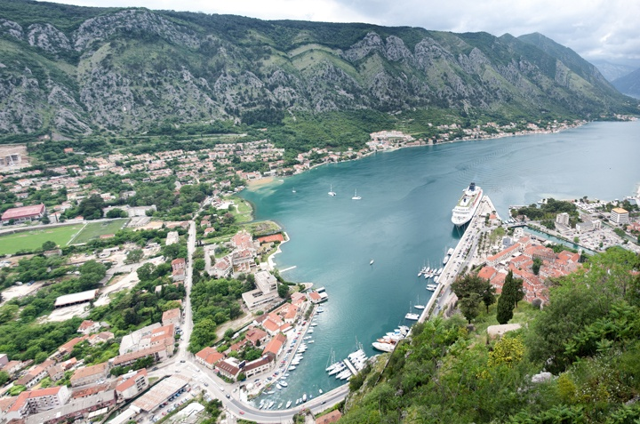 Panoramic view from the fortress of Sveti Ivan in Montenegro