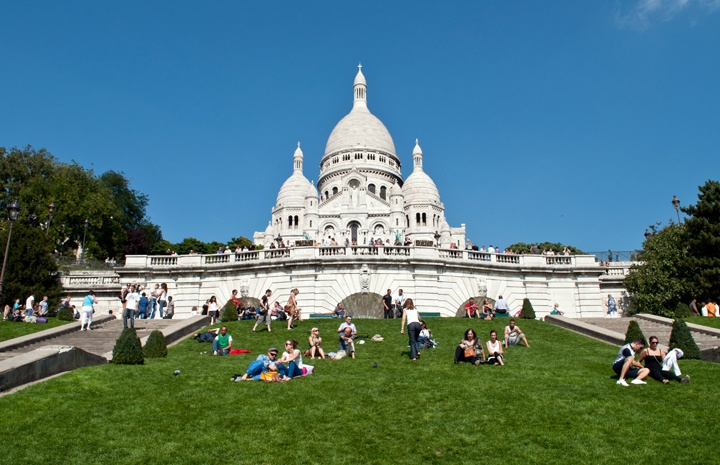 Sacre Coeur Basilica in Montmartre in Paris